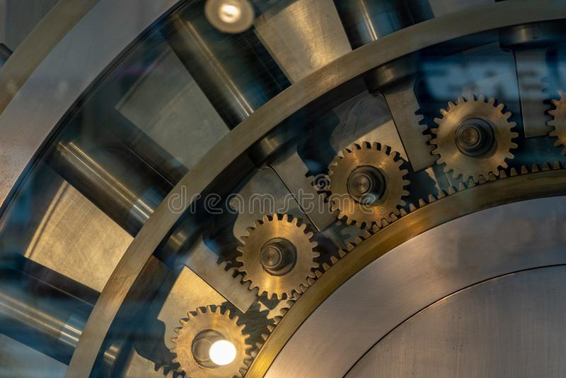 Безопасное банковское хранилище strongbox стоковые изображения rf