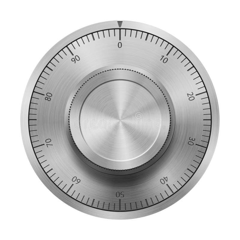 Безопасное колесо замка комбинации иллюстрация штока