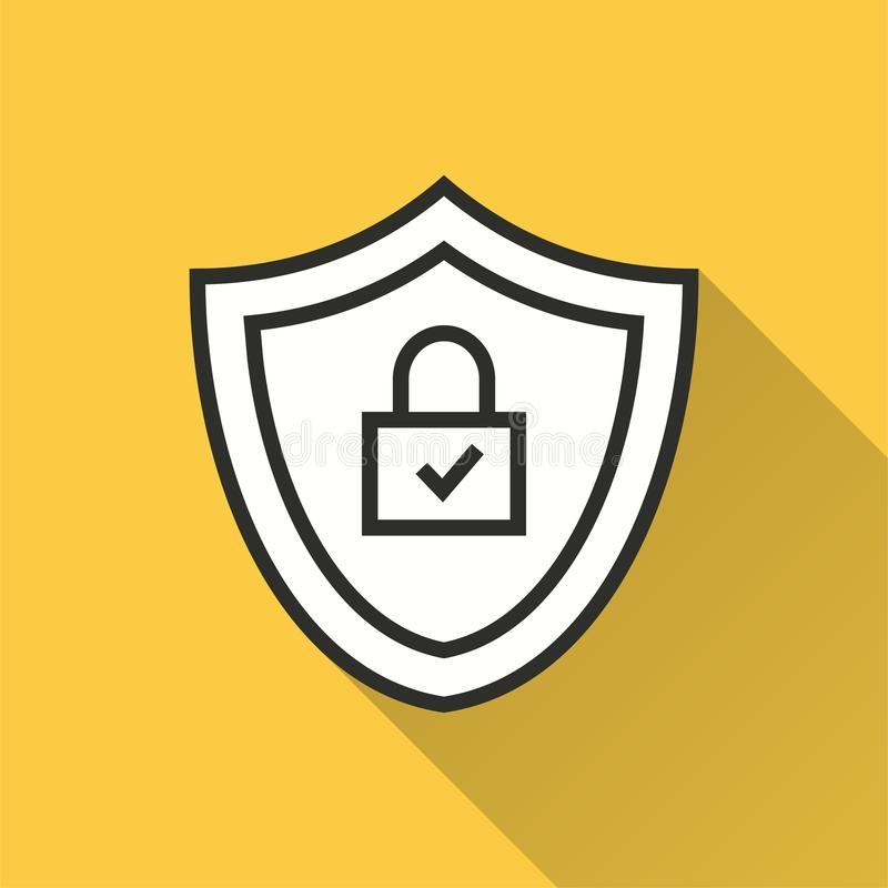 Безопасность данных - значок вектора для графика и веб-дизайна иллюстрация штока