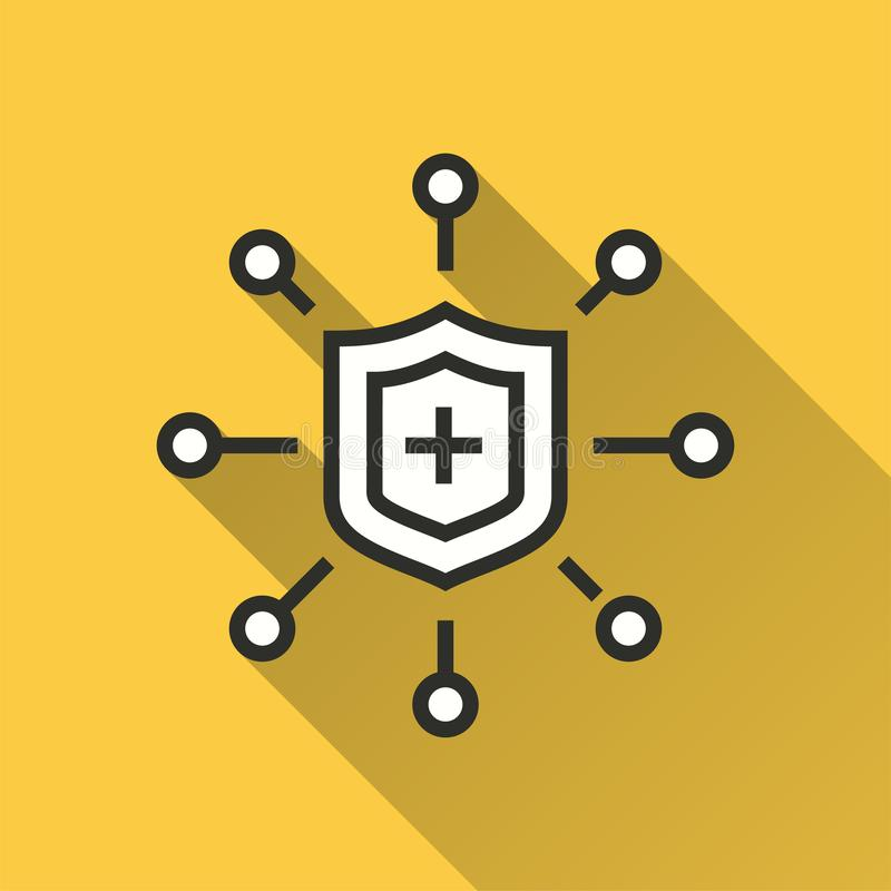 Безопасность данных - значок вектора для графика и веб-дизайна иллюстрация вектора