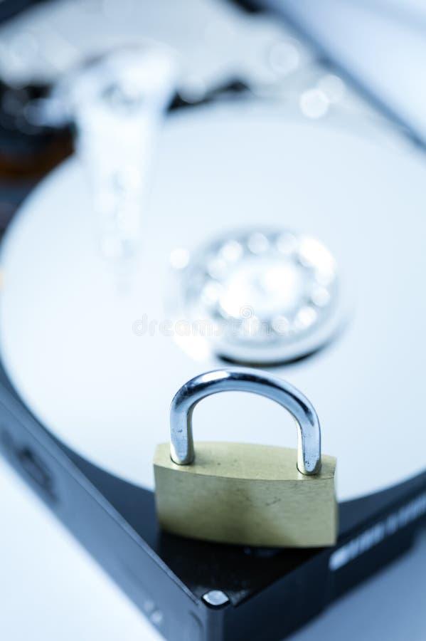 Безопасность жесткого диска компьютера стоковая фотография rf