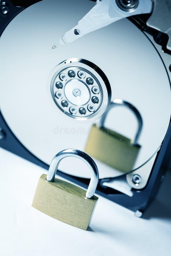 Безопасность жесткого диска компьютера стоковое изображение rf