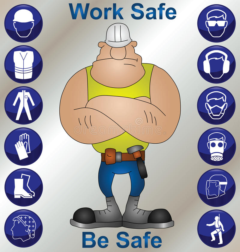безопасность здоровья конструкции иллюстрация вектора