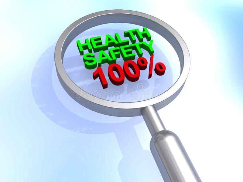 Безопасность 100% здоровья бесплатная иллюстрация