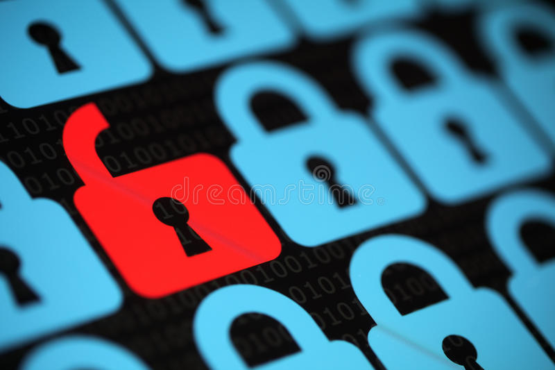 Безопасность интернета стоковое изображение rf