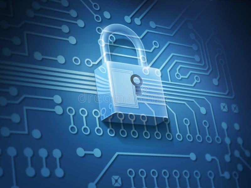 Безопасность интернета иллюстрация штока