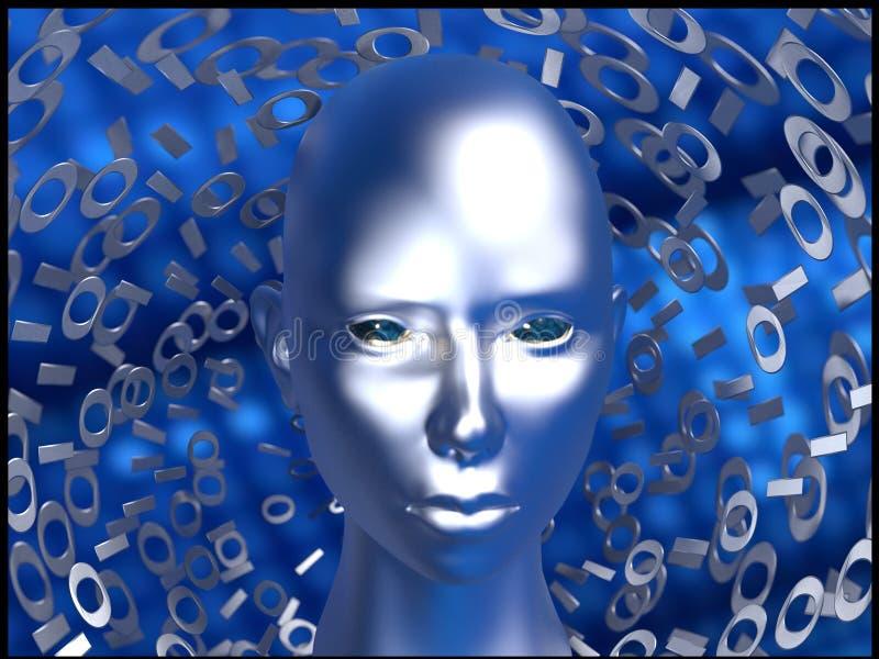 Безопасность и искусственный интеллект кибер стоковые фотографии rf