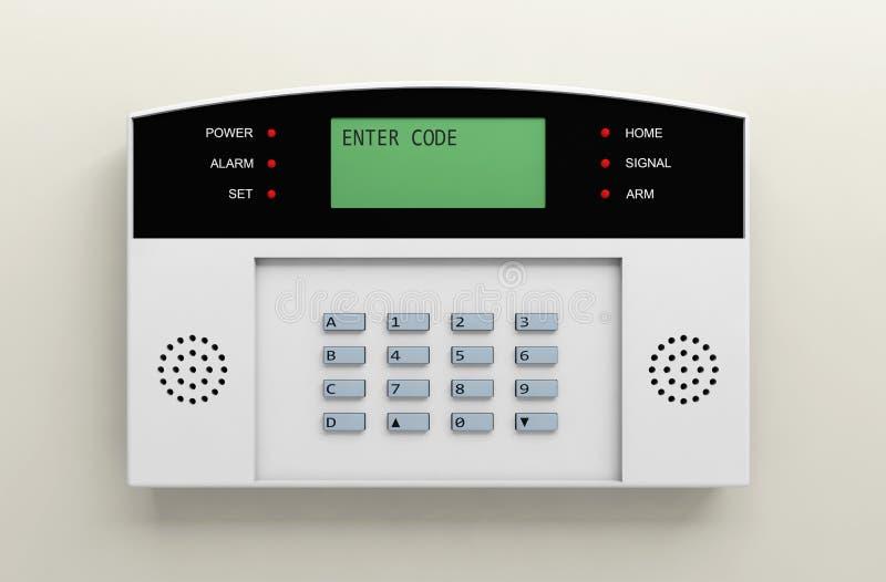 Безопасность кода коробки безопасности предохранения от сигнала тревоги системы иллюстрация вектора