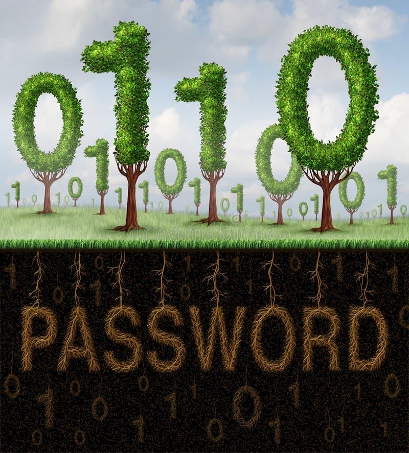 Безопасность пароля иллюстрация штока