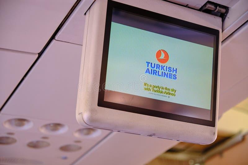 Безопасность прежде всего Turkish Airlines стоковое фото rf