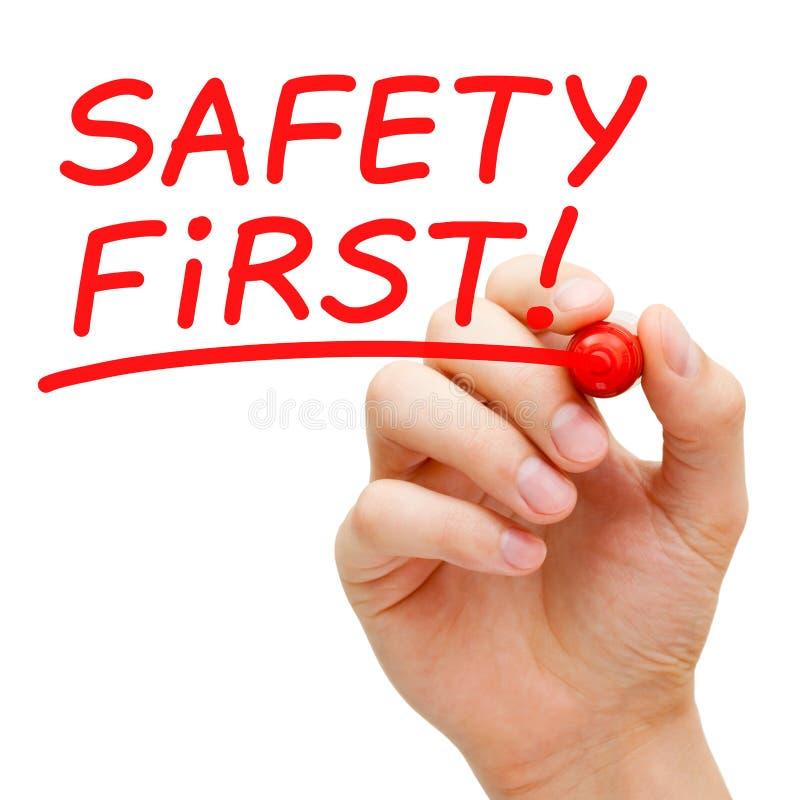 Безопасность прежде всего стоковая фотография rf