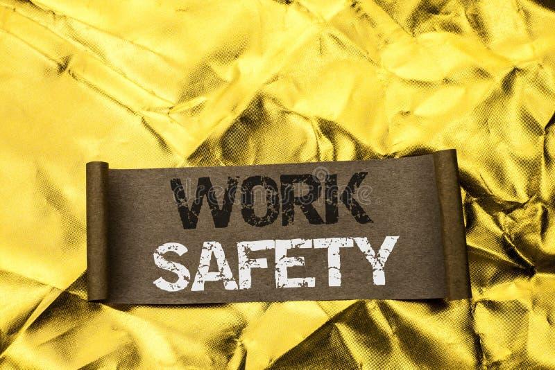 Безопасность работы сочинительства текста почерка Safeness обеспечения предохранения от регулировок безопасностью предосторежения стоковые фотографии rf