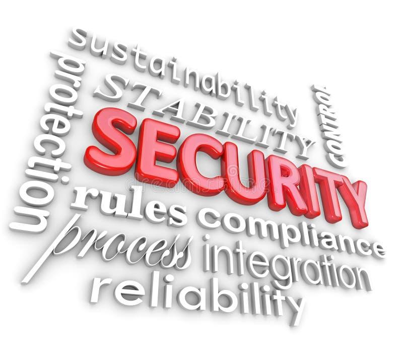 Безопасность формулирует информационную технологию сети защиты иллюстрация вектора