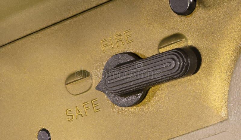 Безопасность AR-15 которая дальше стоковое фото