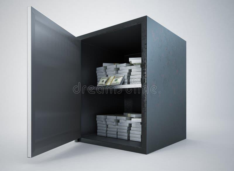 Безопасные деньги иллюстрация штока