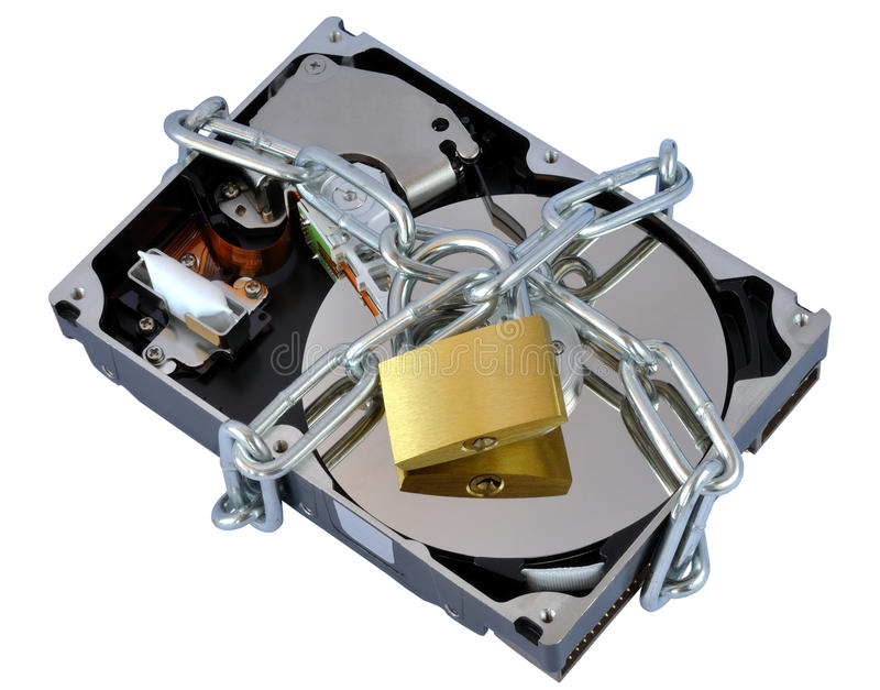 Безопасный жёсткий диск стоковая фотография