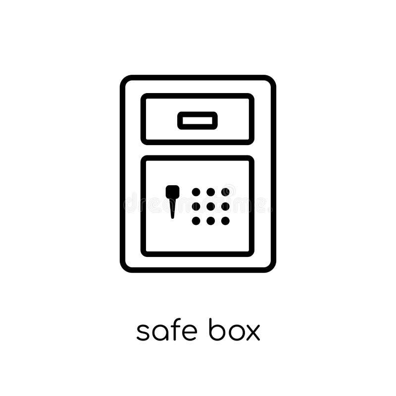 Безопасный значок коробки  иллюстрация штока