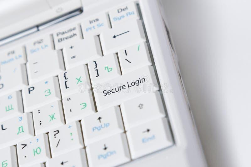 Безопасный ключ имени пользователя стоковая фотография rf
