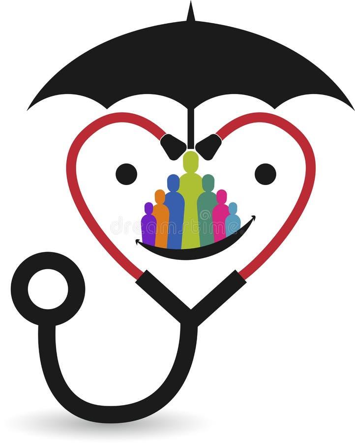 безопасный логотип здравоохранения иллюстрация вектора