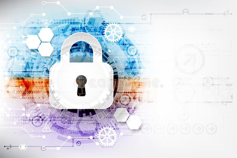 Безопасный цифровой космос Виртуальное конфиденциальное, conn пункта структуры бесплатная иллюстрация