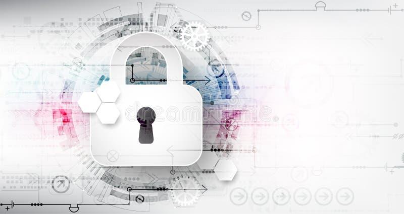 Безопасный цифровой космос Виртуальное конфиденциальное, conn пункта структуры иллюстрация вектора