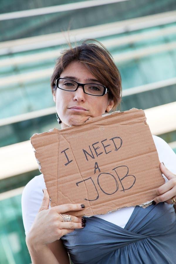 безработная женщина стоковые изображения