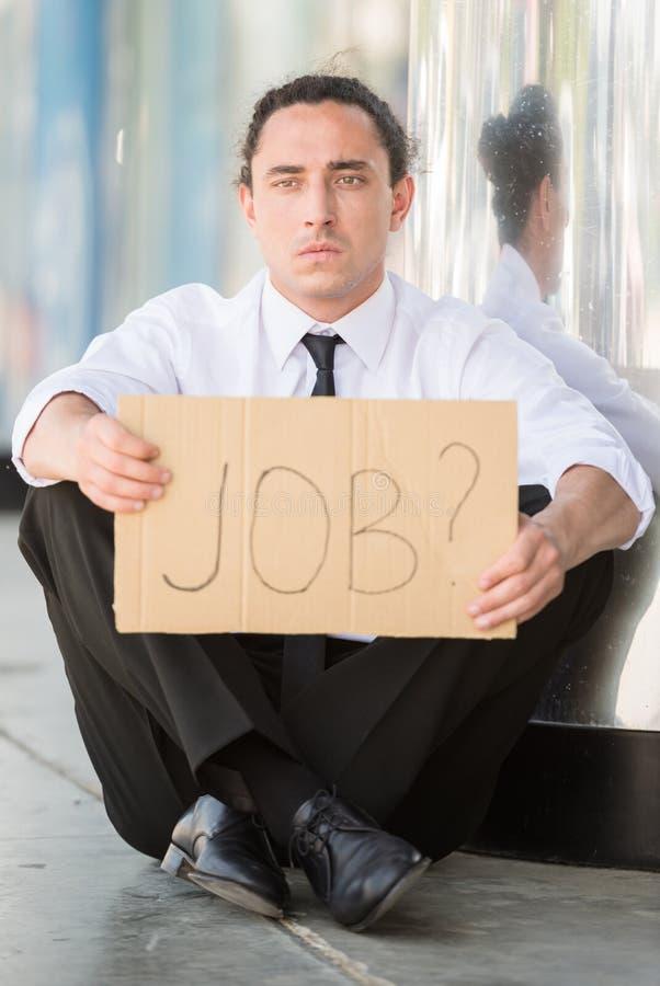безработные человека стоковое изображение