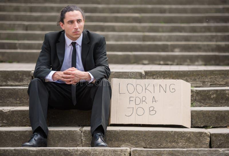 безработные человека стоковые фотографии rf