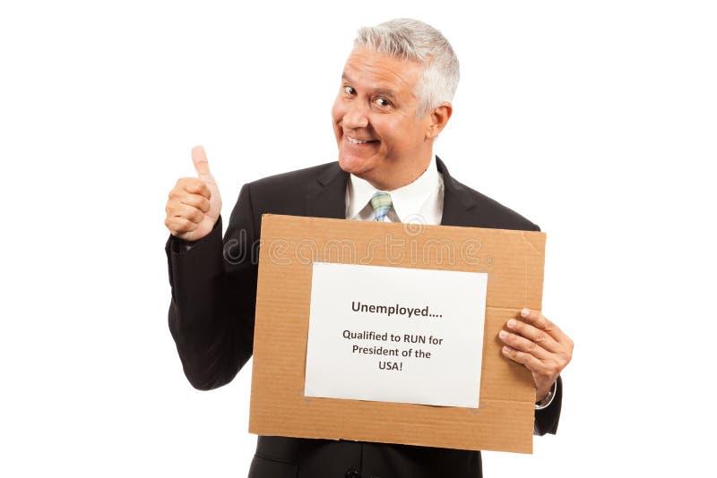 Безработный бизнесмен стоковое изображение
