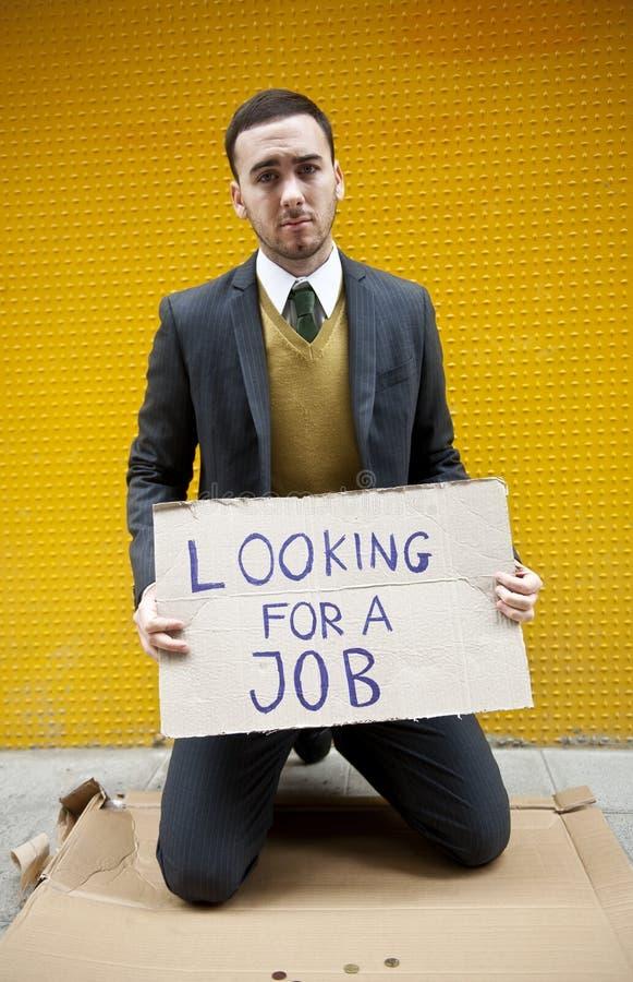 безработный человек стоковая фотография rf