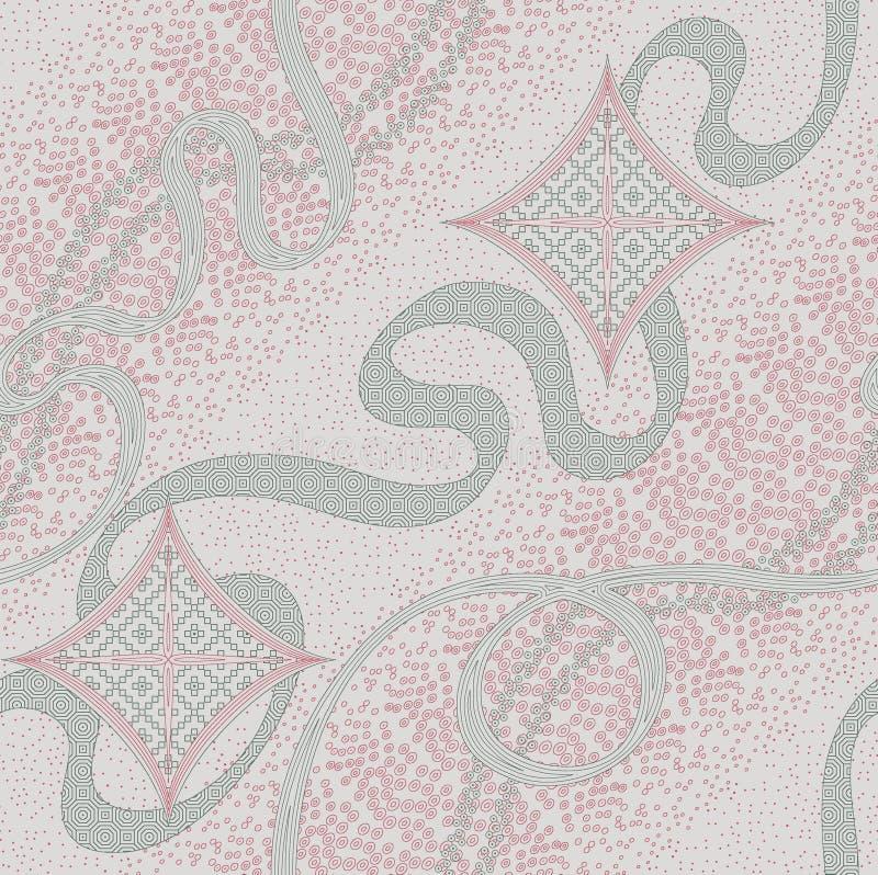 Безшовная абстрактная геометрическая картина дизайна волны бесплатная иллюстрация