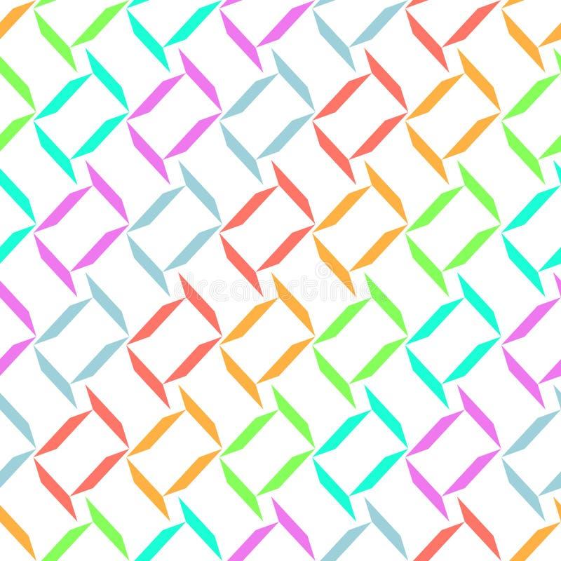 Безшовная абстрактная геометрическая предпосылка дизайна картины вектора бесплатная иллюстрация
