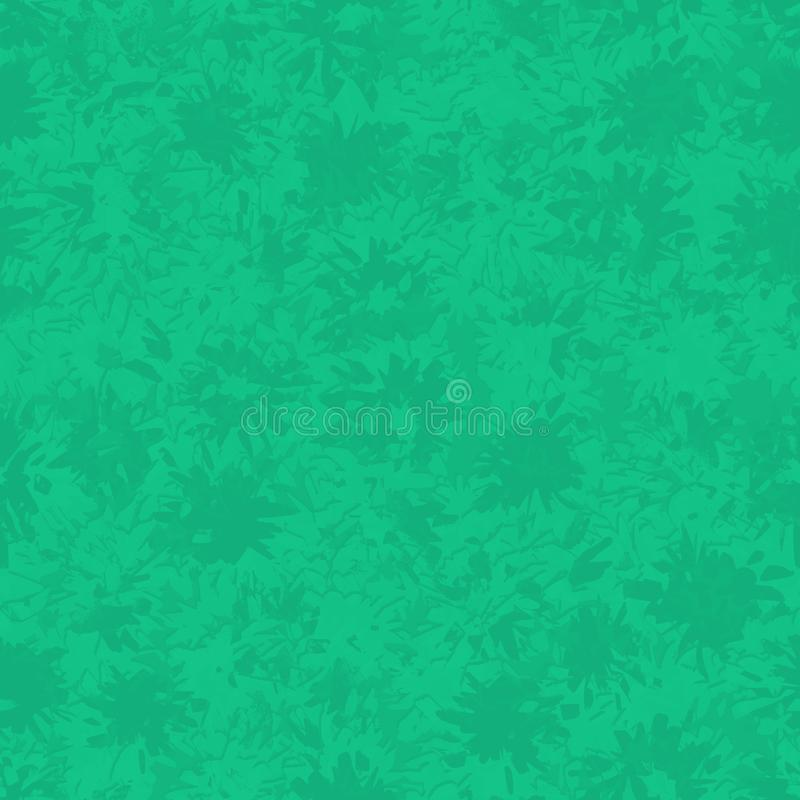 Безшовная абстрактная зеленая картина с различным брызгает и пятнает иллюстрация штока
