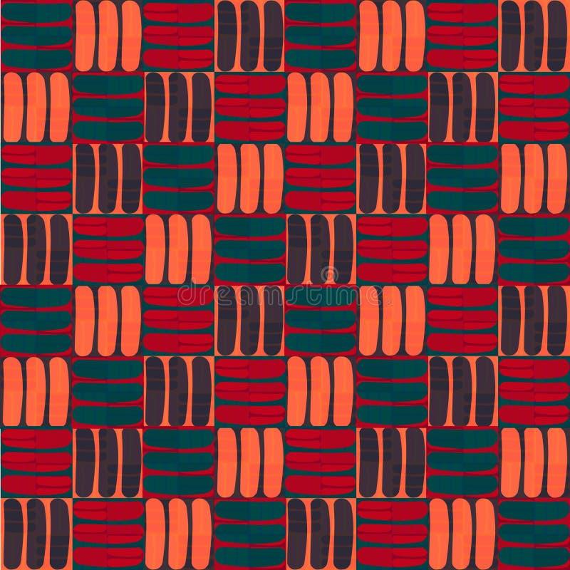 Безшовная абстрактная картина в геометрическом стиле Абстрактная картина boho стоковые изображения