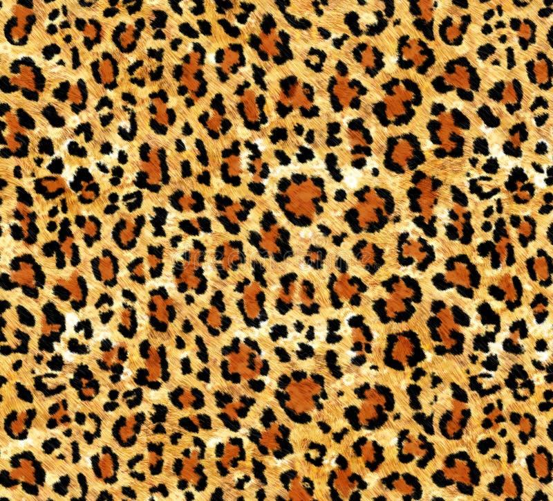 Безшовная абстрактная картина на текстуре леопарда кожи, змейка бесплатная иллюстрация