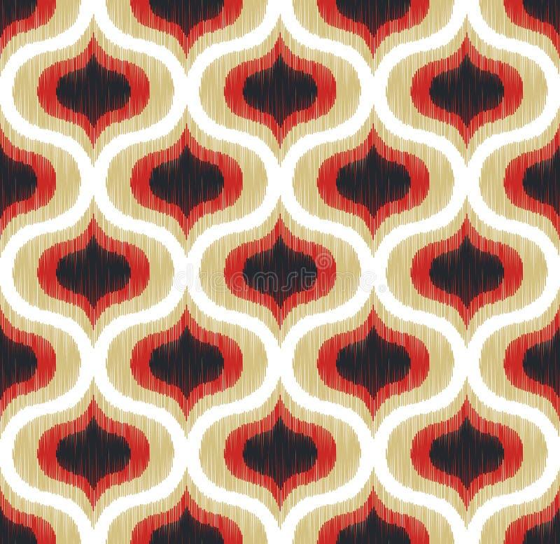 Безшовная абстрактная картина орнамента кривой бесплатная иллюстрация