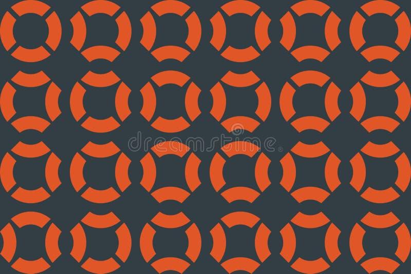 Безшовная, абстрактная картина предпосылки сделанная с частями кругов иллюстрация штока