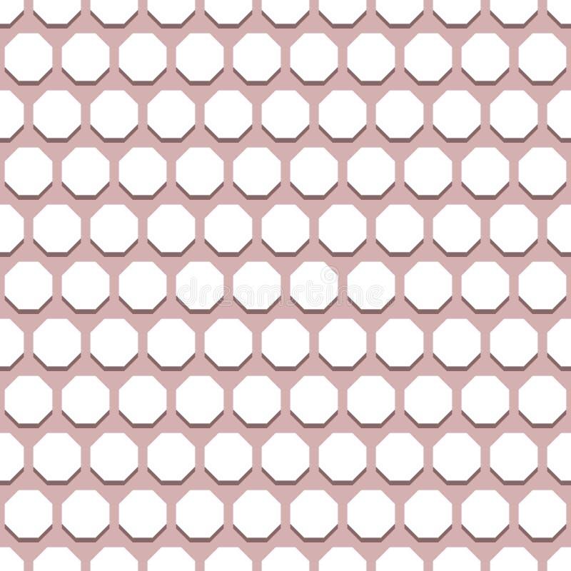 Download Безшовная абстрактная картина с восьмиугольниками Стоковое Изображение - изображение насчитывающей пурпурово, сторонника: 81813629