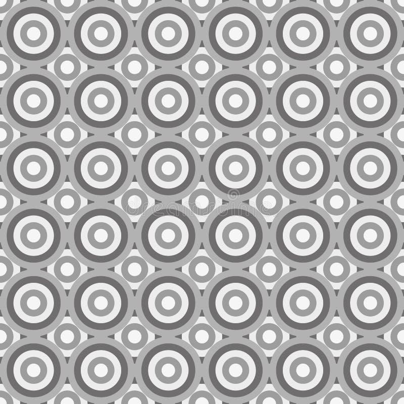 Безшовная абстрактная картина сделанная серыми кругами бесплатная иллюстрация