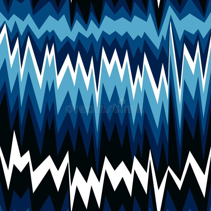 Безшовная абстрактная картина с линиями зигзага иллюстрация штока