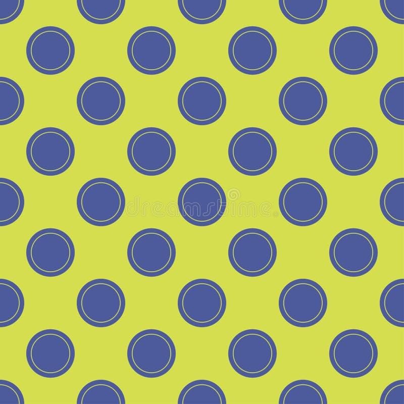 Безшовная абстрактная картина точек круга иллюстрация вектора