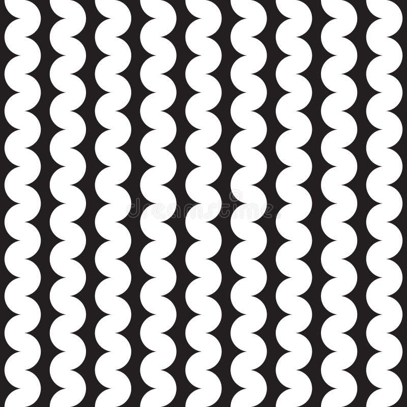 Безшовная абстрактная предпосылка картины волны squiggle бесплатная иллюстрация