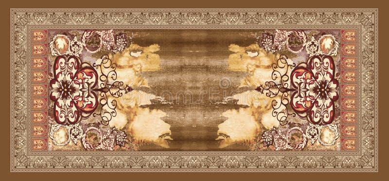 Безшовная абстрактная предпосылка картины дизайна акварели иллюстрация штока