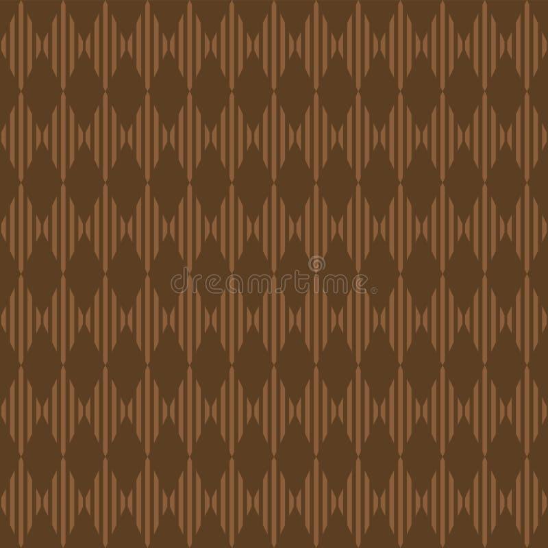 Безшовная абстрактная предпосылка с коричневым цветом косоугольников Открытка крышки летчика элемента дизайна r иллюстрация вектора