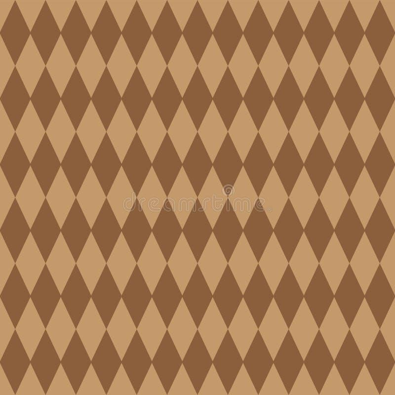 Безшовная абстрактная предпосылка с коричневым цветом косоугольников Открытка крышки летчика элемента дизайна r бесплатная иллюстрация