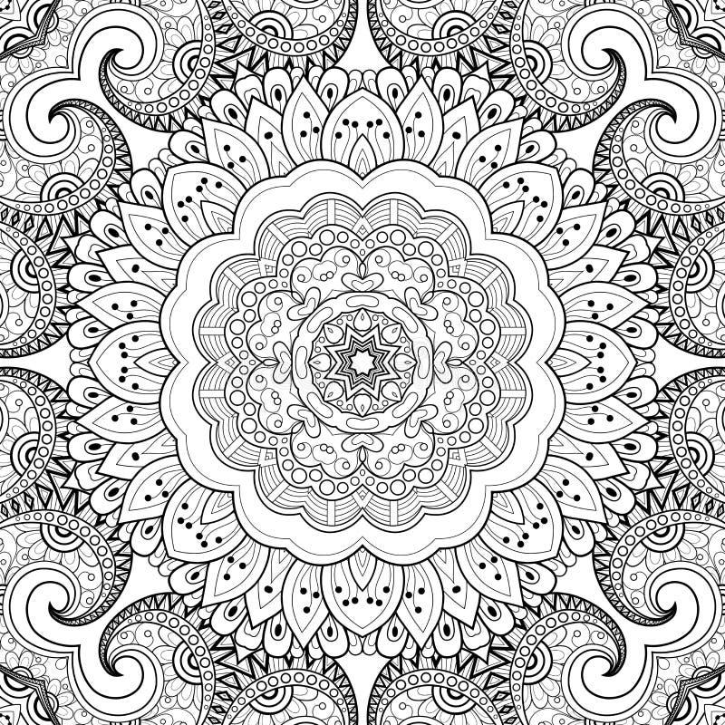Безшовная абстрактная племенная картина (вектор) иллюстрация вектора