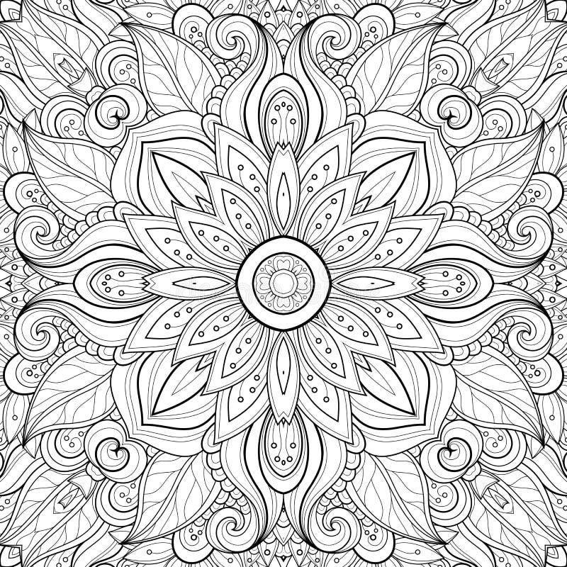 Безшовная абстрактная племенная картина (вектор) бесплатная иллюстрация
