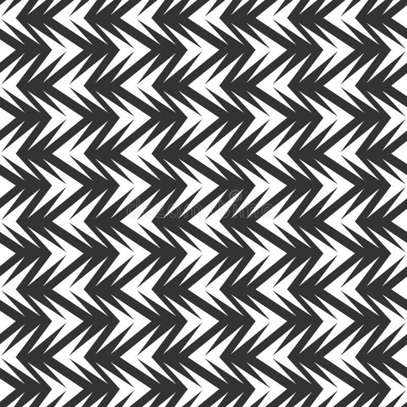 Безшовная абстрактная плитка шеврона в черно-белой предпосылке иллюстрация штока
