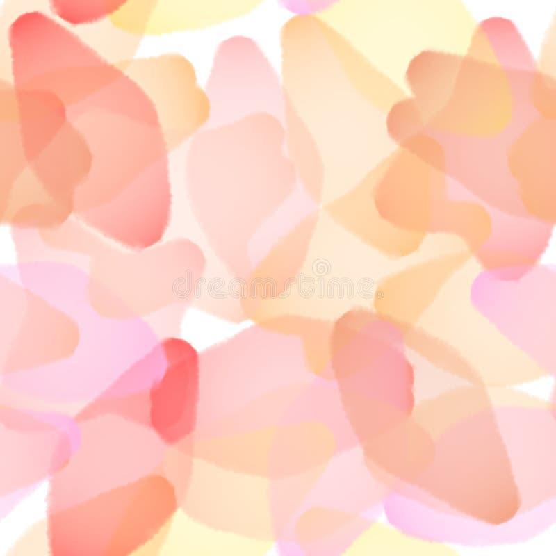 Безшовная абстрактная розовая предпосылка Лепестки, цветки, деревья Дизайн для обоев, тканей, тканей, канцелярских принадлежносте стоковое изображение