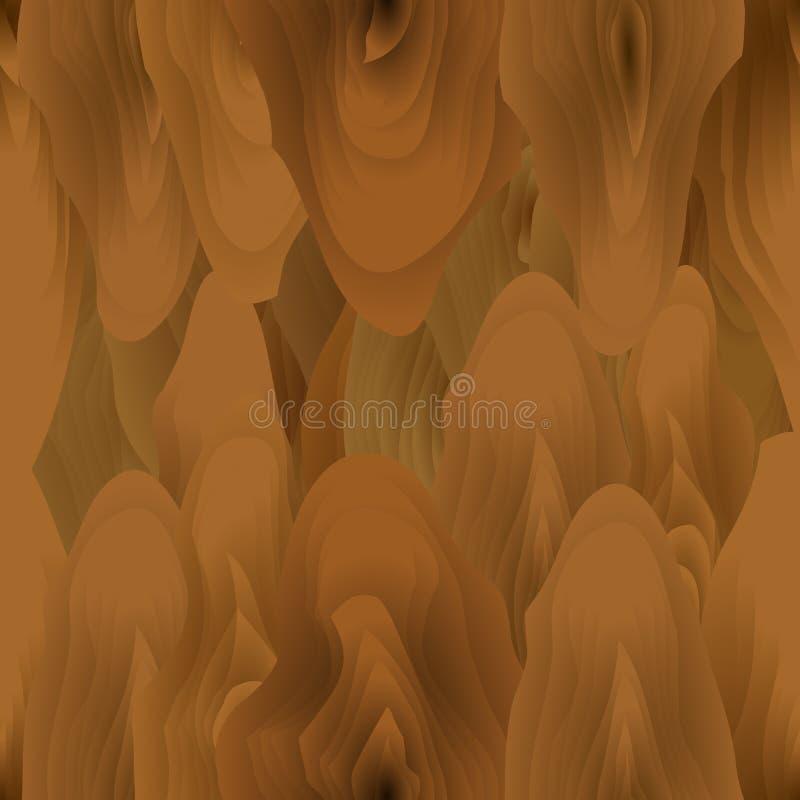 Безшовная абстрактная русая деревянная картина вектор иллюстрация вектора